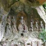 Vanuit Beppu ben ik een dagje naar Usuki gegaan, waar allemaal Boeddha's uit de rotsen zijn uitgehakt.