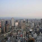 Vanaf het Umeda Sky Building heb je een mooi uitzicht over Osaka.